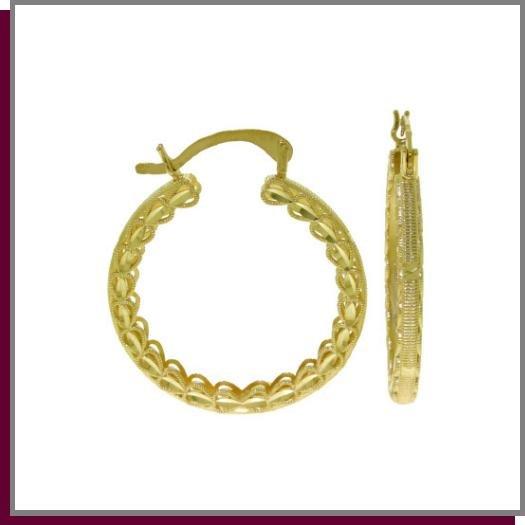14K Solid Yellow Gold Hoop Earrings
