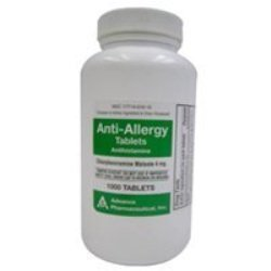 Chlorpheniramine Antihistamine for use in Dogs & Cats 4mg 1000 count