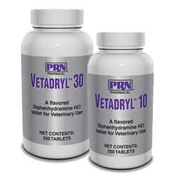 Vetadryl 30 (Benadryl for dogs) 250 Chewable Tablets