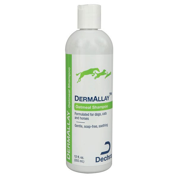 Dermallay Oatmeal Shampoo Relieve Itchy, Dry Skin for Pets 8oz