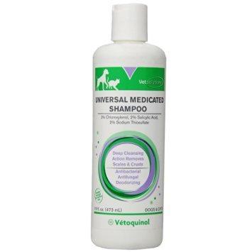 Vetoquinol Universal Medicated Shampoo Treat Skin Problems for Dogs & Cats 16oz
