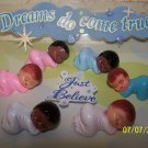 "Babies Large Baby Shower Favors 1.5"" Sleeping 48 WHITE / PINK"