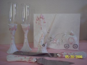 Cinderella Carriage Wedding Quinceanera Anniversary Accesories Pink XV Anos