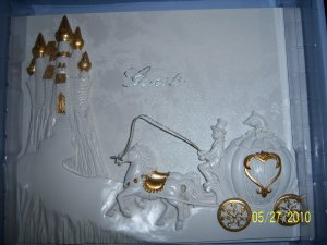 Cinderella Carriage Wedding Quinceanera Anniversary Accesories Gold English