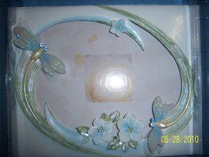 Dragonfly Wedding Quinceanera Anniversary Accesories English Blue