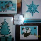 Christmas 28 Handmade Holiday Cards Hallmark Brown NIB