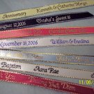 Personalized Ribbons Wedding Quinceranera Baby Shower