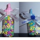 "3.5"" Baby Shower Medium Plastic Bottles Party Favors Fillable Container Blue 24"