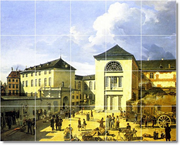 Achenbach City Dining Room Mural Tile Wall Contemporary Renovate