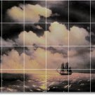 Aivazovsky Waterfront Tile Room Wall Mural Remodeling Home Idea
