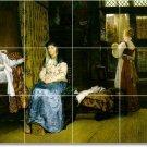 Alma-Tadema Women Tiles Mural Living Room Interior Renovate Ideas