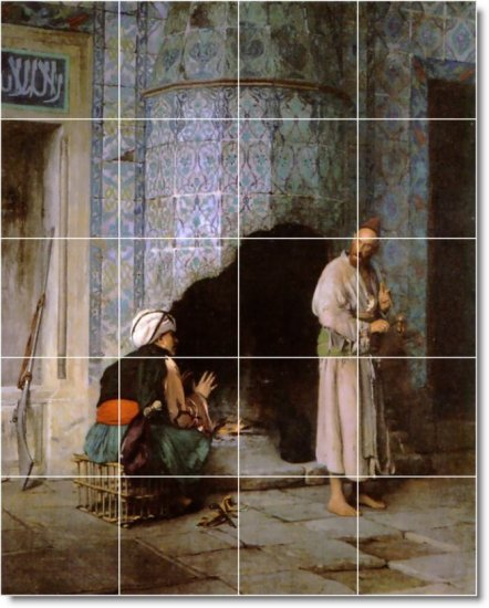 Alma-Tadema Men Women Backsplash Mural Tiles Commercial Design