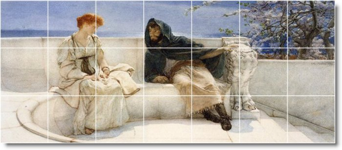 Alma-Tadema Men Women Backsplash Tiles Mural Design Commercial