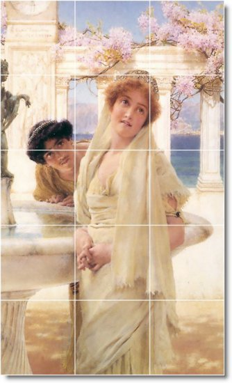 Alma-Tadema Women Room Tile Mural Interior Idea Remodeling Design