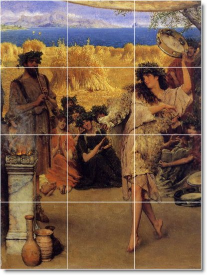 Alma-Tadema Men Women Kitchen Floor Tiles Decor Decor Interior