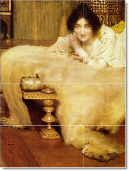 Alma-Tadema Women Tile Mural Room Remodeling Interior Idea Design