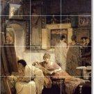 Alma-Tadema Women Mural Tile Room Remodeling Design Idea Interior