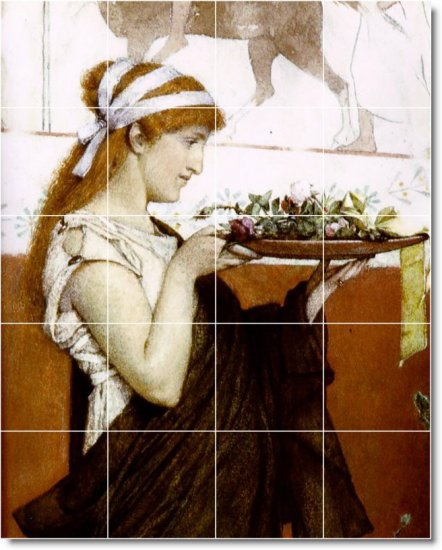 Alma-Tadema Women Living Room Murals Tile Renovation House Design