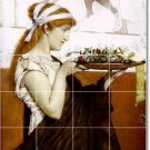 Alma-Tadema Women Living Room Murals Tile Renovation House Design