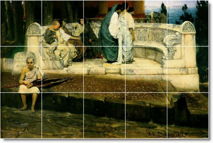 Alma-Tadema Women Kitchen Mural Floor House Construction Decorate