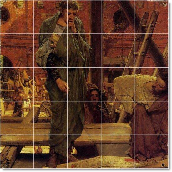 Alma-Tadema Historical Bathroom Tile Mural Traditional Renovate
