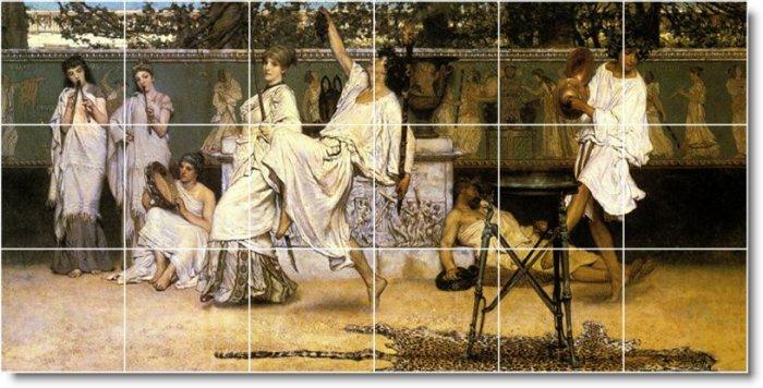 Alma-Tadema Historical Living Room Tile Idea Construction House