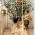 Alma-Tadema Women Kitchen Mural Backsplash Tiles Home Art Remodel