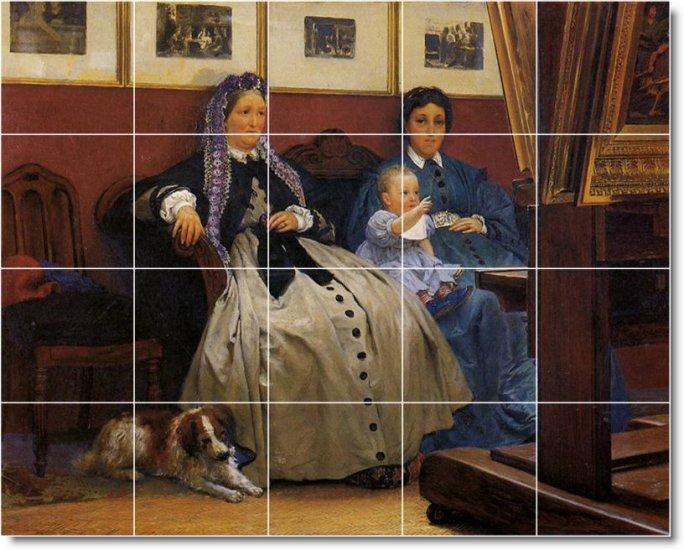 Alma-Tadema Men Women Living Mural Room Tile Design Home Decor
