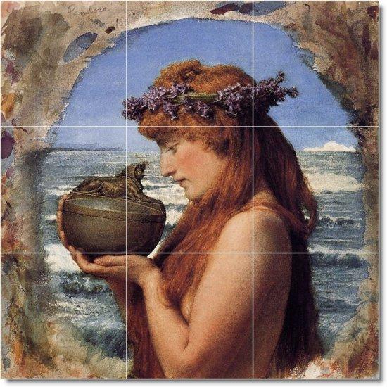Alma-Tadema Mythology Living Tile Room Mural Decor Home Design