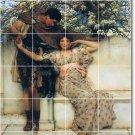 Alma-Tadema Men Women Mural Living Tile Room Remodeling Modern