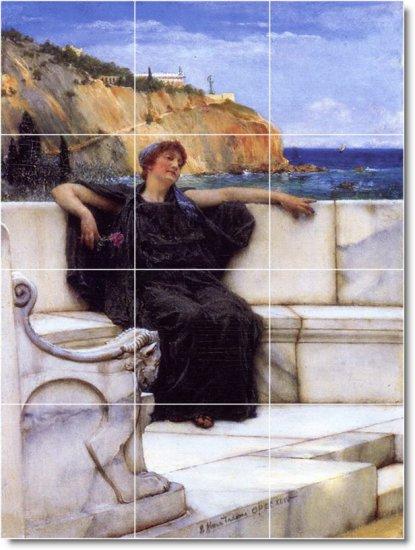Alma-Tadema Women Living Room Mural Wall Tiles Design Decor House