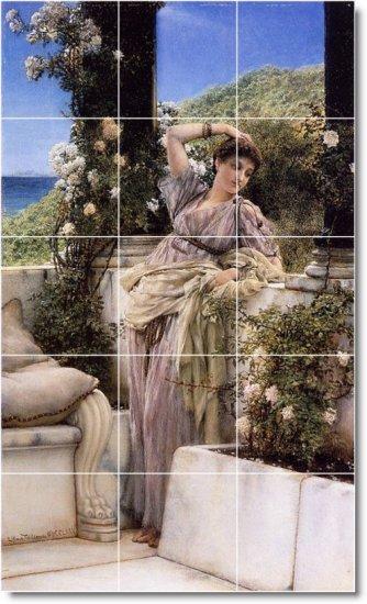 Alma-Tadema Women Living Room Mural Tiles Wall Decor House Design