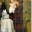 Alma-Tadema Mother Child Murals Bedroom Tile Wall Home Art
