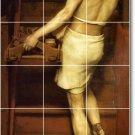 Alma-Tadema Men Wall Shower Murals Tile Remodeling Modern House