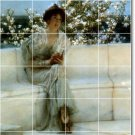 Alma-Tadema Women Living Mural Wall Tiles Room Decor Home Remodel