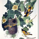 Audubon Birds Tiles Room Wall Renovations Design Idea Commercial