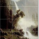 Bierstadt Waterfalls Floor Tile Dining Room Remodel House Decor