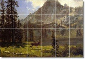 Bierstadt Landscapes Mural Kitchen Tiles Residential Remodeling