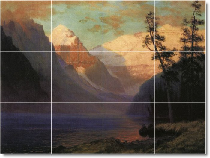 Bierstadt Landscapes Mural Backsplash Wall Modern Remodel Floor