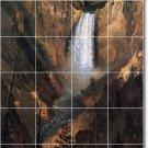 Bierstadt Waterfalls Room Living Murals Tile Remodel Home Decor