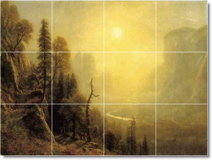 Bierstadt Landscapes Mural Tiles Bedkitchen Remodel Floor Decor