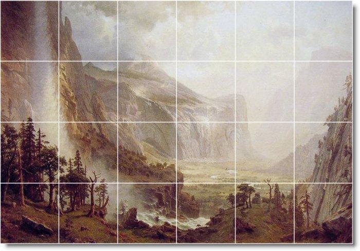 Bierstadt Waterfalls Dining Tile Floor Room Commercial Renovate