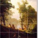 Bierstadt Landscapes Shower Mural Bathroom Renovate House Decor