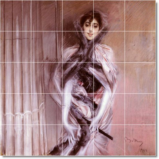 Boldini Women Dining Tile Mural Room Decorate House Construction