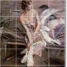 Boldini Women Tile Mural Room Wall Home Remodeling Decorate Idea