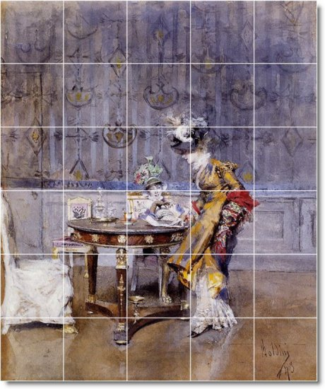 Boldini Women Room Dining Floor Mural Interior Ideas Remodeling