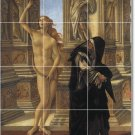Botticelli Nudes Wall Room Mural Tiles Interior Decorating Idea