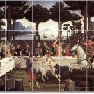 Botticelli Mythology Mural Room Tile Living Renovate Contemporary