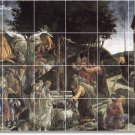 Botticelli Religious Mural Room Tile Ideas Commercial Renovations