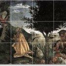 Botticelli Religious Tile Wall Shower Bathroom Commercial Remodel